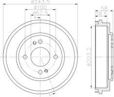 Тормозной барабан TEXTAR 94033300