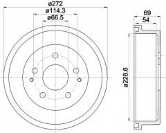 Тормозной барабан TEXTAR 94034300