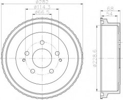Тормозной барабан TEXTAR 94034400