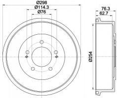 Тормозной барабан TEXTAR 94035700