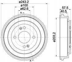 Тормозной барабан TEXTAR 94035900