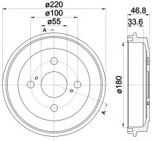 Тормозной барабан TEXTAR 94036400