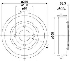 Тормозной барабан TEXTAR 94037100