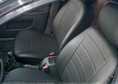 Авточехлы из экокожи L-LINE для салона Daewoo Lanos / Sens '98-, с отдельными задними подголовниками (AVTO-MANIA)