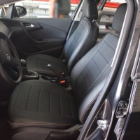 Авточехлы из экокожи S-LINE для салона Opel Astra J '09-15, универсал (AVTO-MANIA)