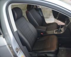Авточехлы из экокожи S-LINE для салона Volkswagen Passat B6 '05-10, Sport/Comfort (AVTO-MANIA)