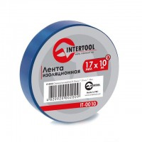 Изолента 10м синяя IT-0010 (Intertool)