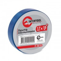 Изолента 15м синяя IT-0015 (Intertool)