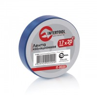 Изолента 20м синяя IT-0020 (Intertool)