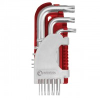 Набор Г-образных ключей TORX Cr-V Small HT-1821 (Intertool)