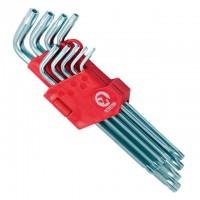 Набор Г-образных ключей TORX с отверстием Cr-V HT-0606 (Intertool)