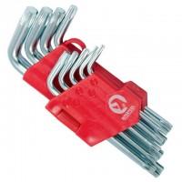 Набор Г-образных ключей TORX с отверстием Cr-V HT-0607 (Intertool)