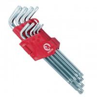 Набор Г-образных ключей TORX с отверстием Cr-V HT-0608 (Intertool)