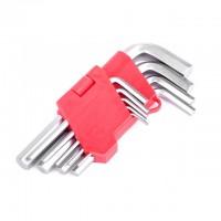 Набор Г-образных шестигранных ключей Cr-V HT-0601 (Intertool)
