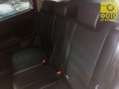 Фото 4 - Авточехлы из экокожи для салона Mitsubishi Outlander '12- (Seintex)