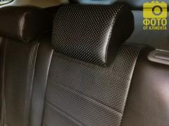 Фото 5 - Авточехлы из экокожи для салона Mitsubishi Outlander '12- (Seintex)