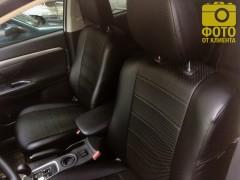 Фото 6 - Авточехлы из экокожи для салона Mitsubishi Outlander '12- (Seintex)