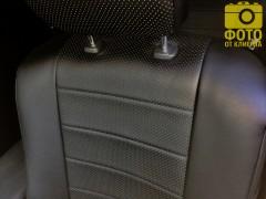 Фото 8 - Авточехлы из экокожи для салона Mitsubishi Outlander '12- (Seintex)