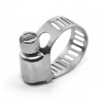 Хомуты стальные, оцинкованные, 8 мм. D 6-16 мм. TC-0006 - 10 шт. (Intertool)