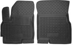 Коврики в салон передние для Chery Tiggo 5 '16- резиновые, черные (AVTO-Gumm)
