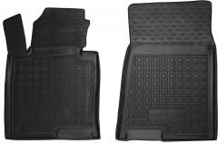 Коврики в салон передние для Kia Optima '16- резиновые, черные (AVTO-Gumm)