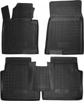 Коврики в салон для Kia Optima '16- резиновые, черные (AVTO-Gumm)