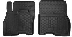 Коврики в салон передние для Nissan Leaf '10-17 резиновые, черные (AVTO-Gumm)