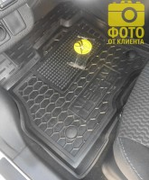 Фото 8 - Коврики в салон для Nissan Leaf '10-17 резиновые, черные (AVTO-Gumm)