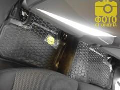 Фото 9 - Коврики в салон для Nissan Leaf '10-17 резиновые, черные (AVTO-Gumm)