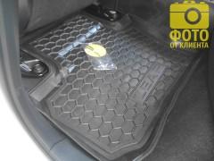 Фото 10 - Коврики в салон для Nissan Leaf '10-17 резиновые, черные (AVTO-Gumm)