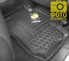 Фото 11 - Коврики в салон для Nissan Leaf '10-17 резиновые, черные (AVTO-Gumm)