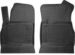 Коврики в салон передние для Opel Astra K '15- резиновые, черные (AVTO-Gumm)