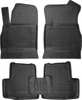 Коврики в салон для Opel Astra K '15- резиновые, черные (AVTO-Gumm)