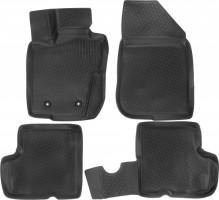 Коврики в салон для Renault Duster '10-14, 4WD полиуретановые, черные (L.Locker)