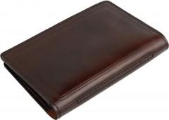 Обложка для документов большая темно-коричневая, без логотипа