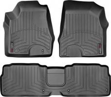 Коврики в салон для Lexus RX '03-08 черные, резиновые 3D (WeatherTech)