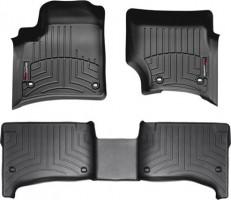 Коврики в салон для Porsche Cayenne '03-09 черные, резиновые 3D (WeatherTech)