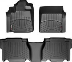 Коврики в салон для Toyota Tundra '07-13, 6 мест, черные, резиновые 3D (WeatherTech)