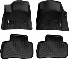 Коврики в салон для Audi A6 '11-14 черные, резиновые 3D (WeatherTech)