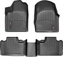 Коврики в салон для Dodge Durango '11-14 черные, резиновые 3D (WeatherTech)