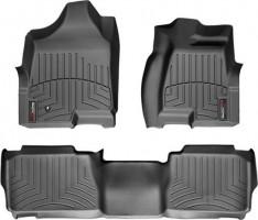 Коврики в салон для Hummer H2 '02-10 черные, резиновые 3D (WeatherTech)