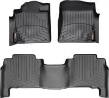 Коврики в салон для Toyota Land Cruiser 200 '07-13 черные, резиновые 3D (WeatherTech)
