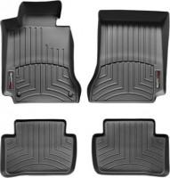 Коврики в салон для Mercedes C-Class W204 '07-14 черные, резиновые 3D (WeatherTech)