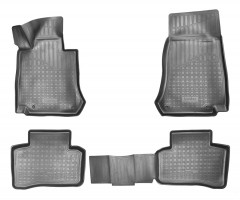 Коврики в салон для Mercedes GLC-Class X253 '15- полиуретановые, черные (Nor-Plast)
