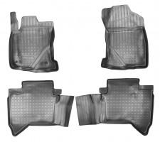 Коврики в салон для Toyota Hilux '15- полиуретановые, черные (Nor-Plast)
