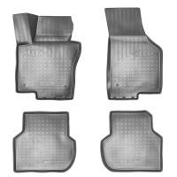 Коврики в салон для Volkswagen Jetta VI '10-, 3D полиуретановые, черные (Nor-Plast)