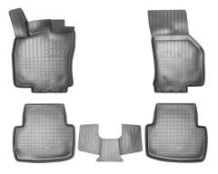 Коврики в салон для Volkswagen Passat B8 '15- полиуретановые, черные (Nor-Plast)
