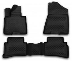 Коврики в салон 3D для Kia Sportage '16- полиуретановые (Novline / Element)