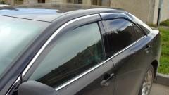 Дефлекторы окон для Toyota Camry V50/55 '11-17, хром. молдинг (AVTM)