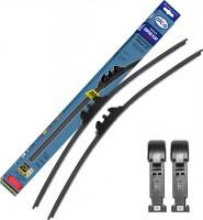 Щётки стеклоочистителя бескаркасные Alca Super Flat 600 и 380 мм. Pinch Tab (набор)